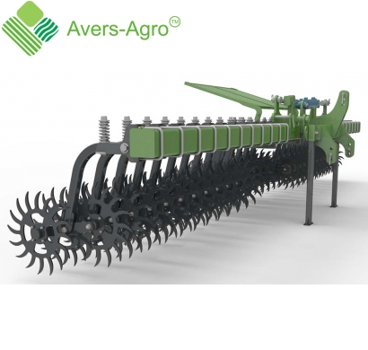 Harrow rotary Green Star 6.5 m Euro with solid tools