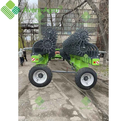 Harrow rotary Green Star 18 m trailed with replaceable teeth