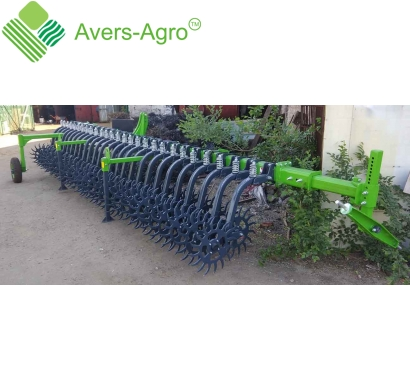 Harrow rotary Green Star 6.8 m with solid tools, solid frame with wheel