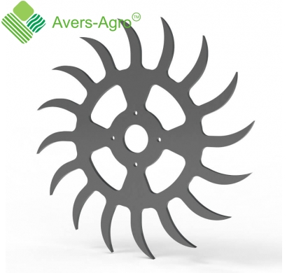 One-piece rotary harrow wheel
