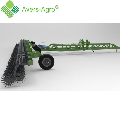 Harrow rotary Green Star 16 m trailing with solid tools