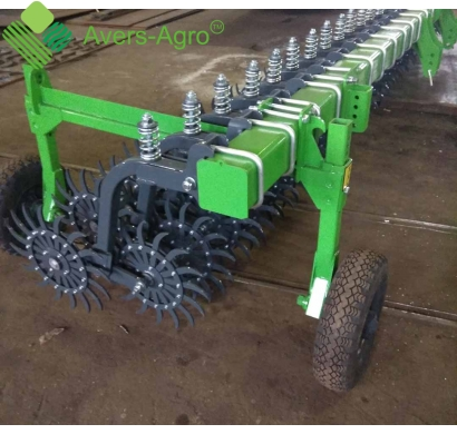 Harrow rotary Green Star 6.4 m with replaceable teeth, solid frame with wheel