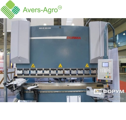 Гибка металла  3-4 мм на гидравлическом листосгибочном прессе Durma AD-R 25100