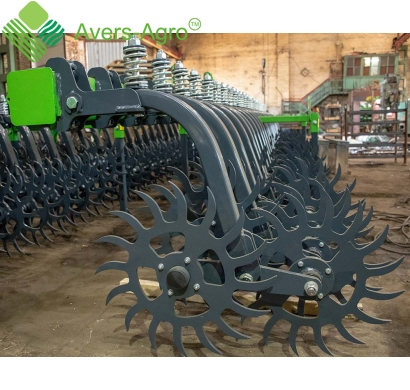 Harrow rotary Green Star 6.8 m with solid tools, solid frame