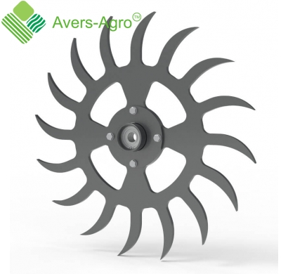 Rotary harrow complete wheel assembly