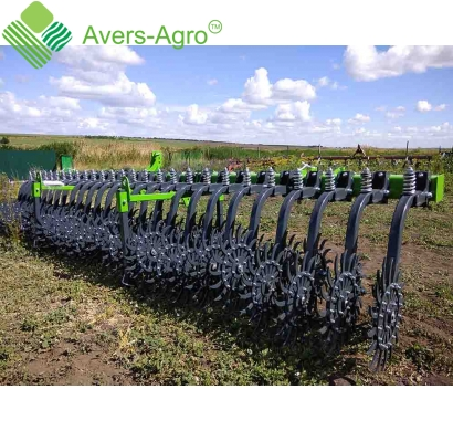 Harrow rotary Green Star 5.8 m with replaceable teeth John Deere, solid frame