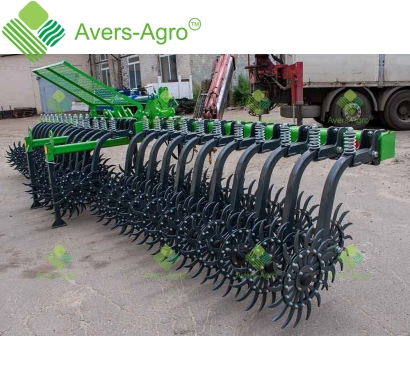 Harrow rotary Green Star 5.7 m Euro with replaceable teeth