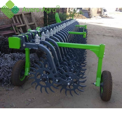 Harrow rotary Green Star 5.8 m with solid tools, solid frame with wheel
