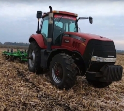 Video of work in the field of the Green Wave Vertical Tillage Machine 3.9 m