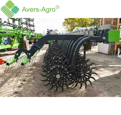 Harrow rotary Green Star 5.8 m with replaceable teeth, solid frame